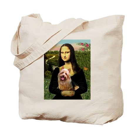 Mona & her Aussie Terrier Tote Bag