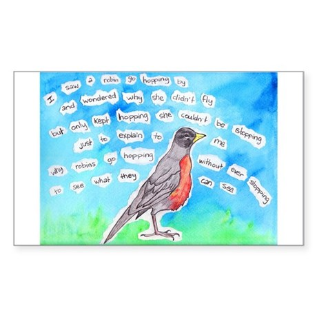 Robin Sticker (Rectangle)