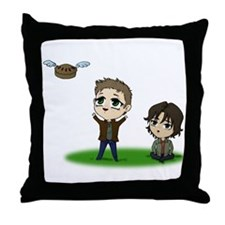 Cute Sam dean Throw Pillow