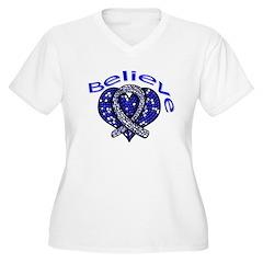 ALS Believe Heart Ribbon T-Shirt
