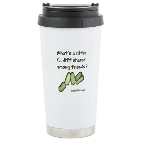 C. diff Among Friends Stainless Steel Travel Mug