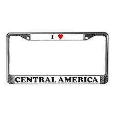 I Love Central America License Plate Frame