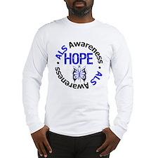 ALS Hope Butterfly Long Sleeve T-Shirt