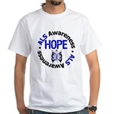 Als butterfly Mens White T-shirts