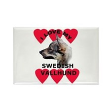 Swedish Vallhund Love Rectangle Magnet