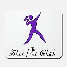 Shot Put Chick Mousepad
