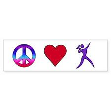 Peace Love Shot Put Bumper Sticker