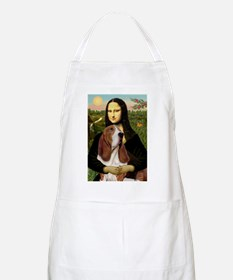 Mona and her Basset BBQ Apron
