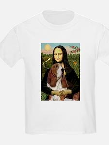 Mona and her Basset Kids T-Shirt
