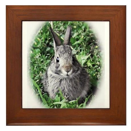 Baby Bunny Framed Tile