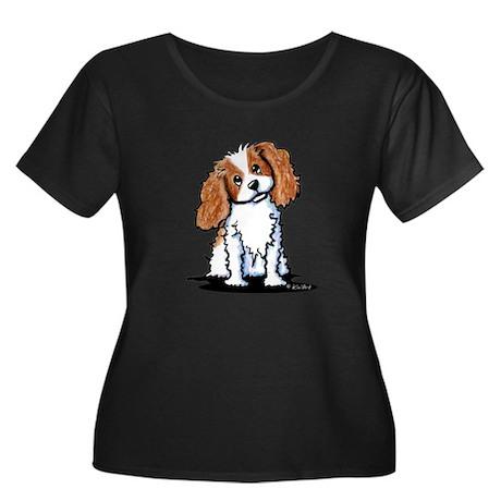 KiniArt Women's Plus Size Scoop Neck Dark T-Shirt