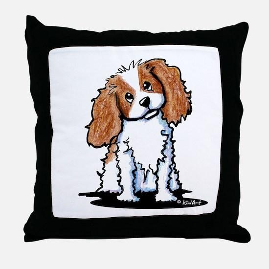 KiniArt CKC Spaniel Throw Pillow