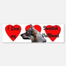 Swedish Vallhund Love Bumper Bumper Bumper Sticker