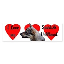 Swedish Vallhund Love Bumper Bumper Sticker