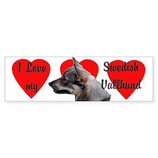 Swedish Vallhund Love Bumper Bumper Sticker