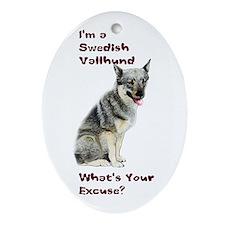 Swedish Vallhund Excuse Oval Ornament
