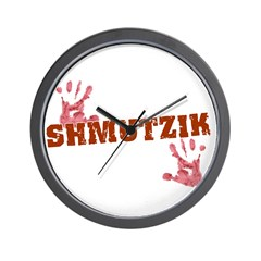 Jewish - Shmutzik - Dirty - Yiddish Wall Clock