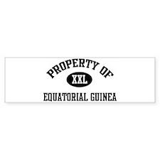 Property of Equatorial Guinea Bumper Bumper Sticker