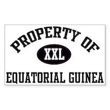 Property of Equatorial Guinea Sticker (Rectangular