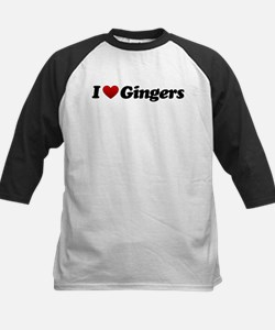 I Love Gingers Kids Baseball Jersey