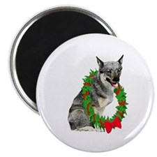 Swedish Vallhund Christmas Magnet