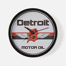 Detroit Motor Oil Wall Clock