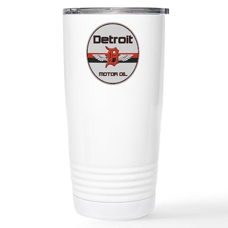 Detroit Motor Oil Stainless Steel Travel Mug