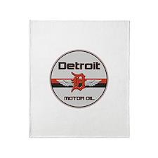 Detroit Motor Oil Throw Blanket
