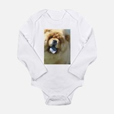 Cute Chow Long Sleeve Infant Bodysuit