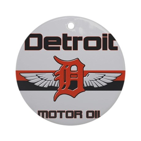 Detroit Motor Oil Ornament (Round)