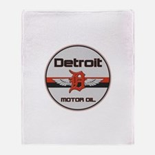Detroit Motor Oil Throw Blanket