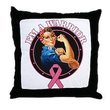 Breast Cancer Warrior RosieTh Throw Pillow