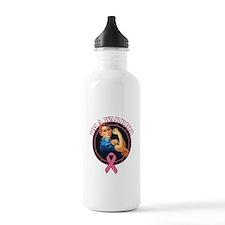 Breast Cancer Warrior RosieTh Water Bottle