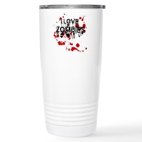 I Love Zombies Stainless Steel Travel Mug