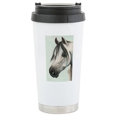GREY ARAB HORSE Travel Mug