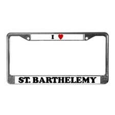 I Love St. Barthelemy License Plate Frame
