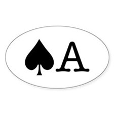 Ace Face Oval Decal