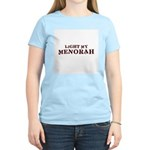 Jewish - Light My Menorah -  Women's Pink T-Shirt