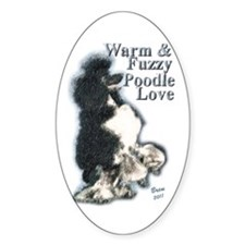 Warm & Fuzzy Poodle Love Decal