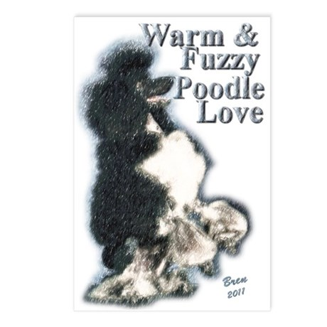 Warm & Fuzzy Poodle Love Postcards (Package of