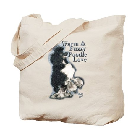 Warm & Fuzzy Poodle Love Tote Bag