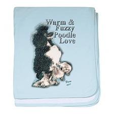 Warm & Fuzzy Poodle Love baby blanket