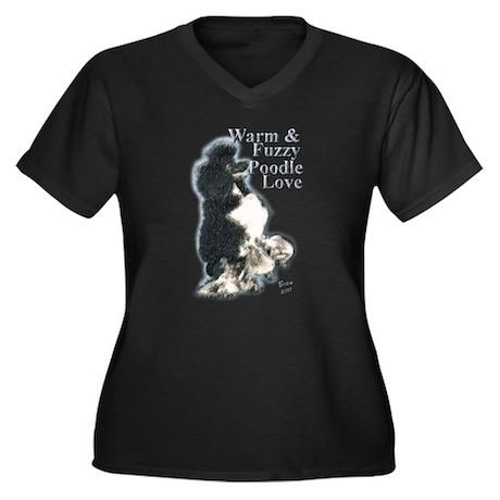 Warm & Fuzzy Poodle Love Women's Plus Size V-Neck