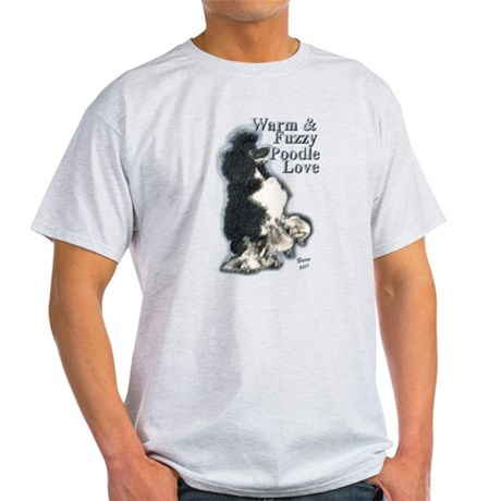 Warm & Fuzzy Poodle Love Light T-Shirt