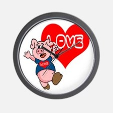 The Love Piggy Wall Clock