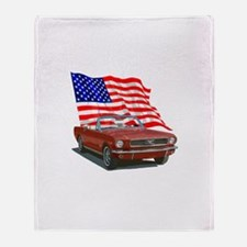 Funny Ford mustang Throw Blanket