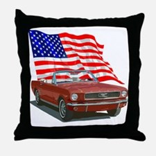 Unique Mustang Throw Pillow
