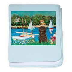 Sailboats / Affenpinscher baby blanket