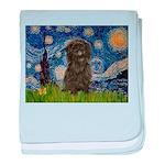 Starry Night / Affenpinscher baby blanket