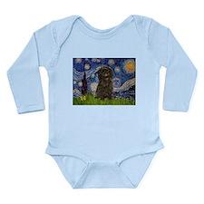 Starry Night / Affenpinscher Long Sleeve Infant Bo